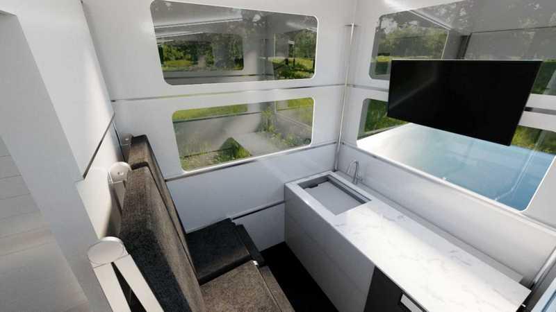 室內也規劃簡單烹飪、衛浴與床鋪設計。