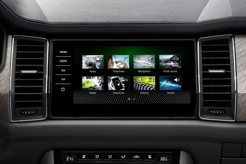 Kodiaq RS車型標配數位儀表。