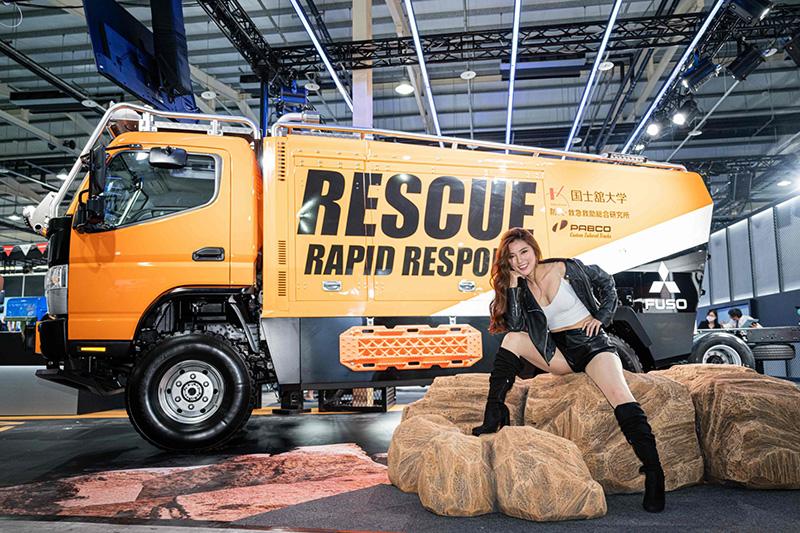 Fuso為喚起大眾對於防災意識的重要,與日本國士館大學Kokushikan University,合作開發Athena救援概念車,為今年台中商車展一大亮點。