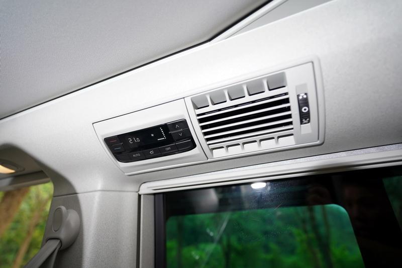 後艙空調系統面板可獨立調整溫度及風量