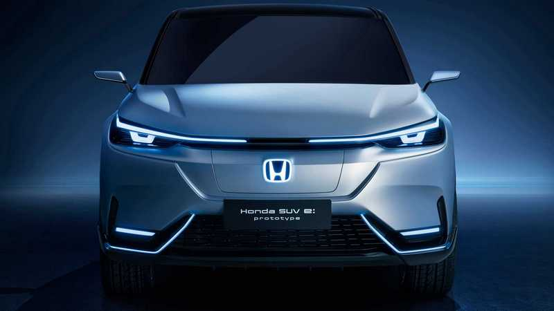 SUV e:prototype整體造型設計可當成HR-V電動版。