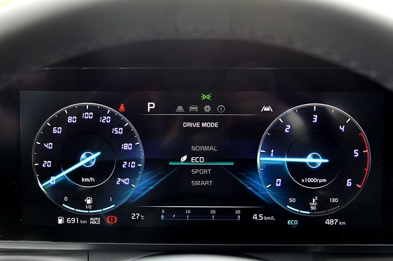 ECO/Normal/Sport/Smart四種模式供你選擇。