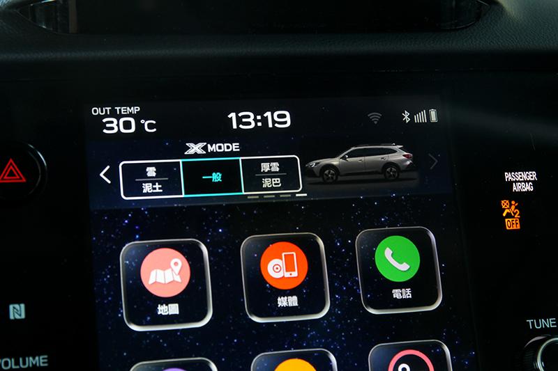 X-Mode選項也是從螢幕操作。