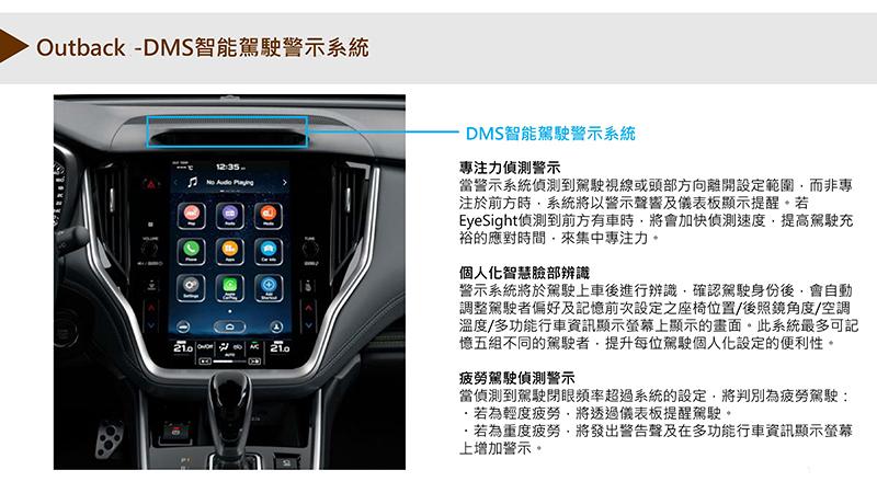 DMS智能駕駛警示系統功能。