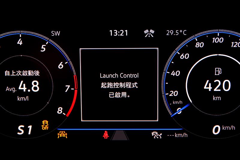 Volkswagen性能車款常見的Launch Control彈射起步模式同樣導入Tiguan R身上