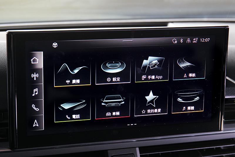 小改A5 Sportback換上10.1吋中控螢幕與最新MMI系統。