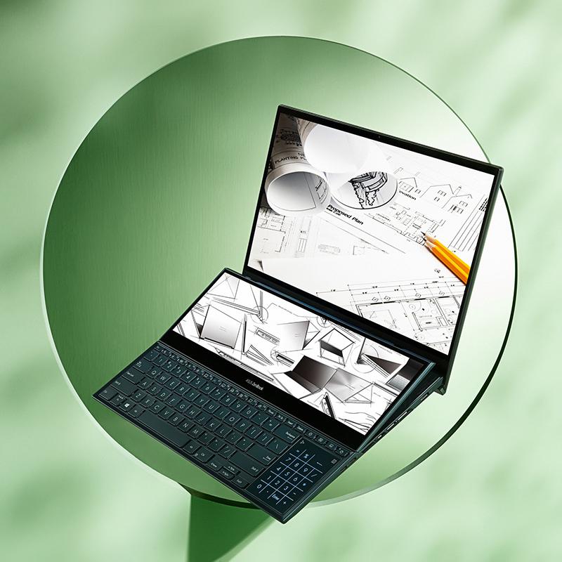 ASUS ZenBook Pro Duo 15 OLED (UX582)以OLED絕美螢幕結合頂規繪圖效能,在眾所期盼下開賣(圖:品牌提供)