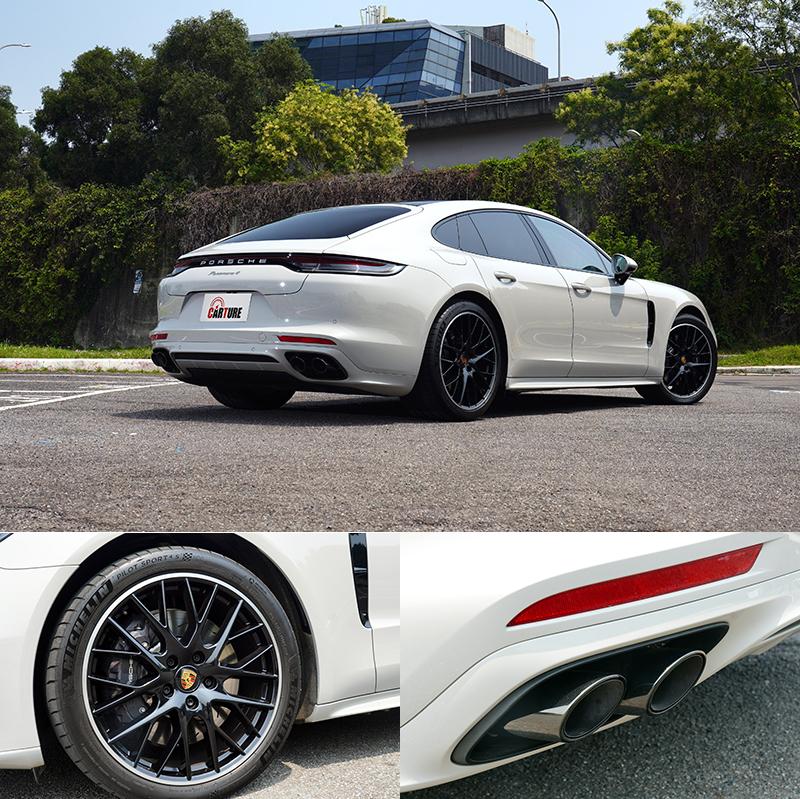 具黑色高亮澤排氣飾管的跑車化排氣系統、黑色烤漆的 21 吋 Panamera Sport Design鋁圈也都是選配部品。