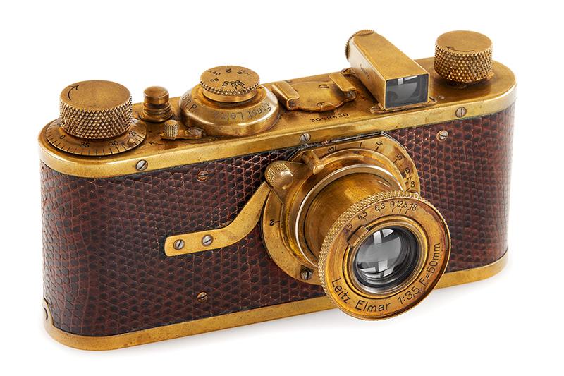 徠卡 I 型 「Luxus」版本相機 將於6月12日在維也納舉辦第38屆相機拍賣會競拍。(圖:品牌提供)