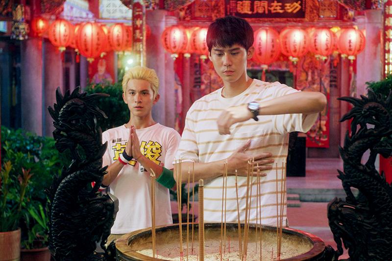 【車勢星聞】李玉璽(右起)、林暉閔因《神之鄉》結為好友。(圖:東森提供)