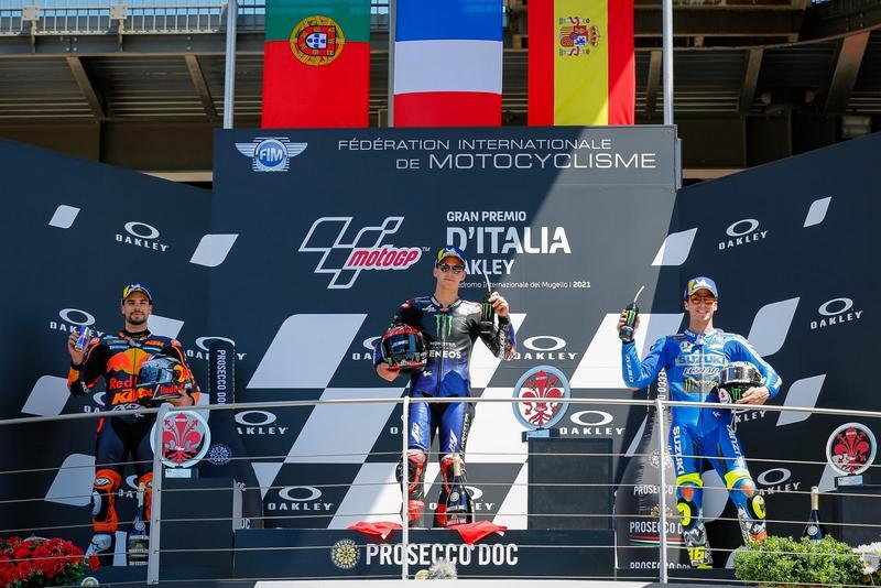 最終由Quartararo、Oliveira與Mir站上頒獎台。