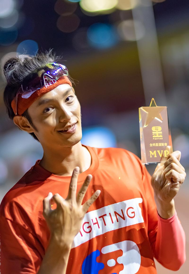 【車勢星聞】《全明星運動會》曹佑寧拿下了個人第三座MVP,也破節目以來首位單人拿下最多MVP的選手。(圖:台視提供)