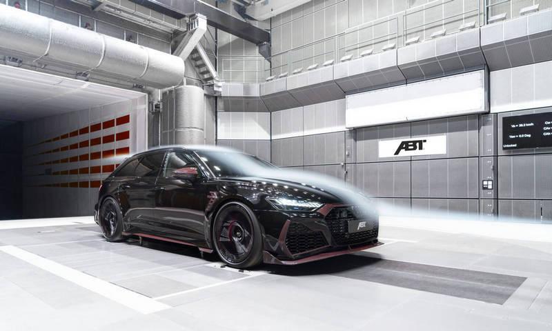 RS6 Avant Johann Abt Signature Edition有進行風洞測試,以確保整體力學與下壓力表現,