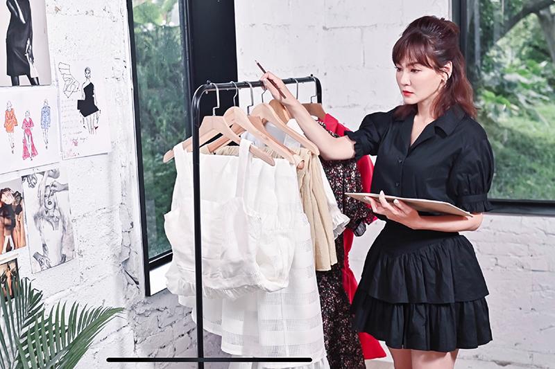 【車勢星聞】邱琦雯自創服飾品牌《Miss C》正式上市,上班、約會不衝突。(圖:艾迪昇傳播提供)