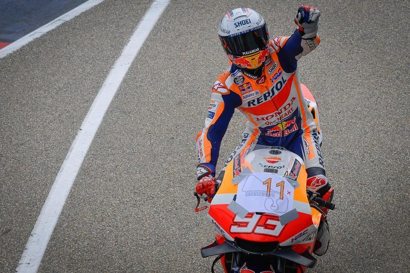 Marquez成功取得傷後復出首勝,也達成德國站11連勝。