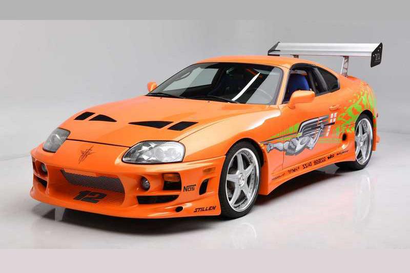 Paul Walker在電影《玩命關頭1》開過的Toyota Supra,最終以55萬美元金額成交。