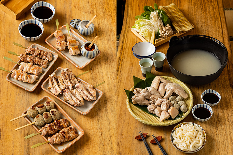 台北鳥喜推出「精選雞肉串燒禮盒」、「特選雞白湯火鍋禮盒」。(圖:品牌提供)