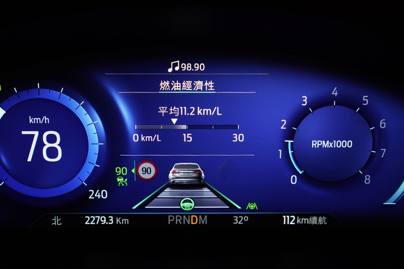 TSR道路標誌識別輔助系統在偵測道路速限標誌後也會同步顯示於儀錶板或抬頭顯示器中。