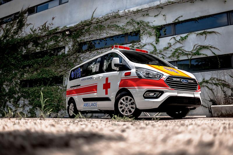 若未來疫情減緩,Ford旅行家救護車也能使用於一般救護服務,在醫療前線行長遠的路。