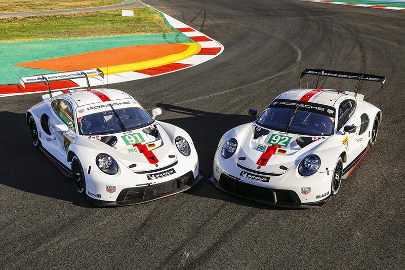 保時捷GT車隊車手Kévin Estre和Neel Jani駕駛92號保時捷911 RSR;Richard Lietz和Gianmaria Bruni駕駛91號保時捷911 RSR。