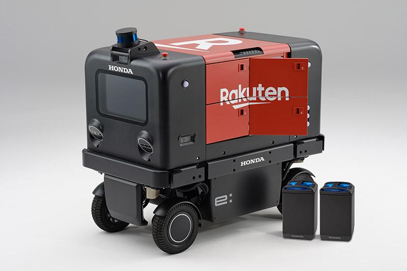 Honda + 樂天 + 公規電池共享換電,自動送貨機器人實驗日本上路