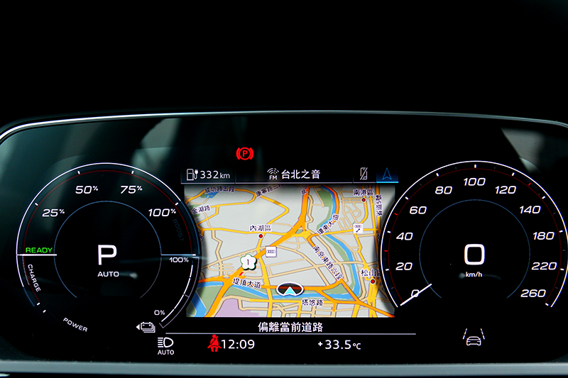 12.3吋數位儀表提供多項資訊與屆顯示模式。