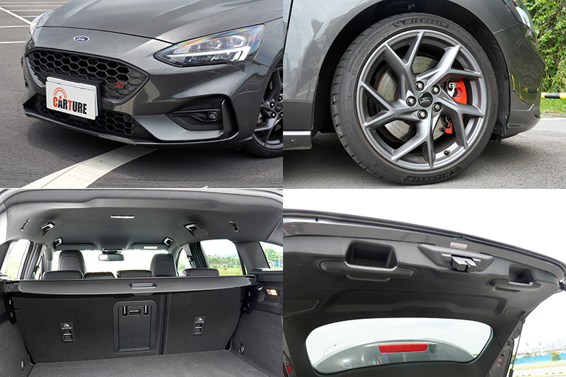 Focus ST Wagon – SLS Edition在配備上做了些更動,比較明顯的是:取消了AFS頭燈主動式轉向照明輔助系統、全景式天窗、足踢感應式電動尾門,以及換裝18吋胎圈組。