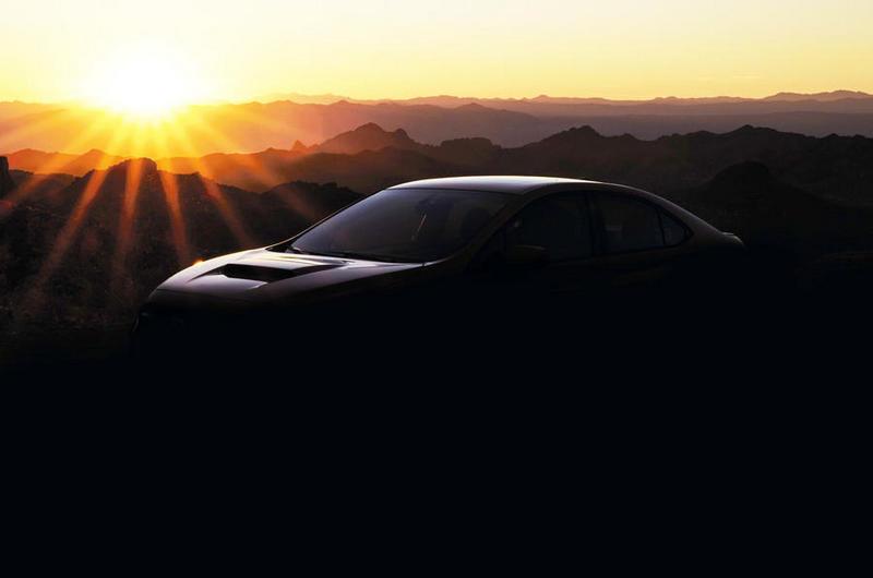 先前Subaru釋出的WRX圖片微夕陽剪影圖。