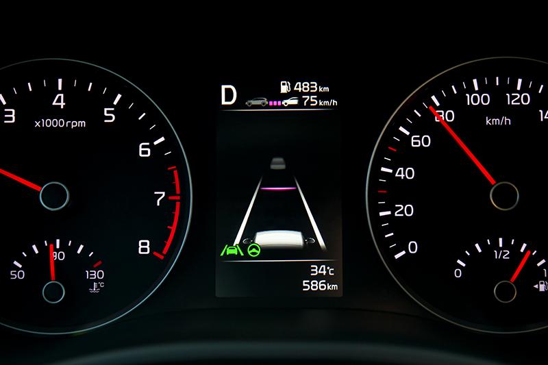 與1.0T時尚版皆有Level 2半自動駕駛,但1.4驚艷版則有多盲區防撞主動煞車輔助、盲區偵測警示、後方交通防撞主動煞車輔助、後方交通防撞警示、車道變換警示等配備。