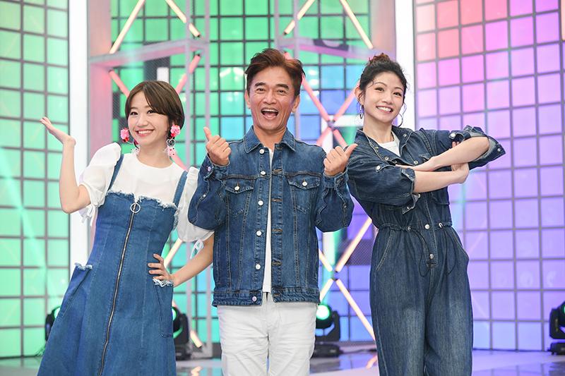 【車勢星聞】《綜藝大熱門》復工首錄舉辦線上記者(左起)Lulu 黃路梓茵、吳宗憲、李千那。(圖:三立提供)