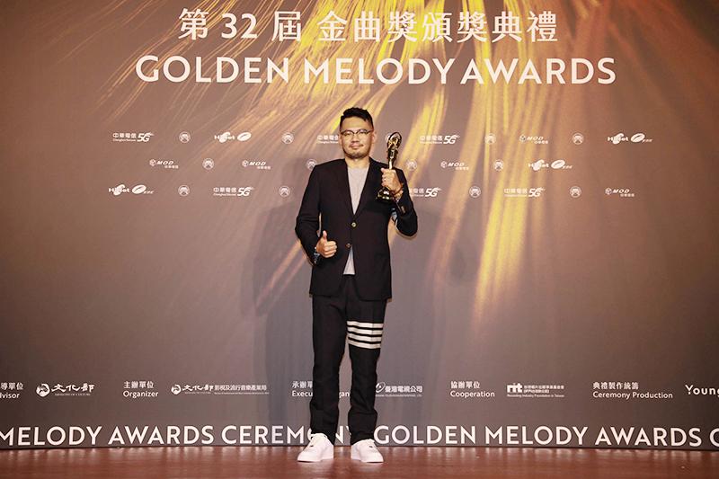 【車勢星聞】第32屆金曲獎最佳作詞人獎葛大為。(圖:台視提供)