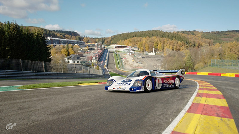 保時捷962C於Gran Turismo Sport遊戲畫面。