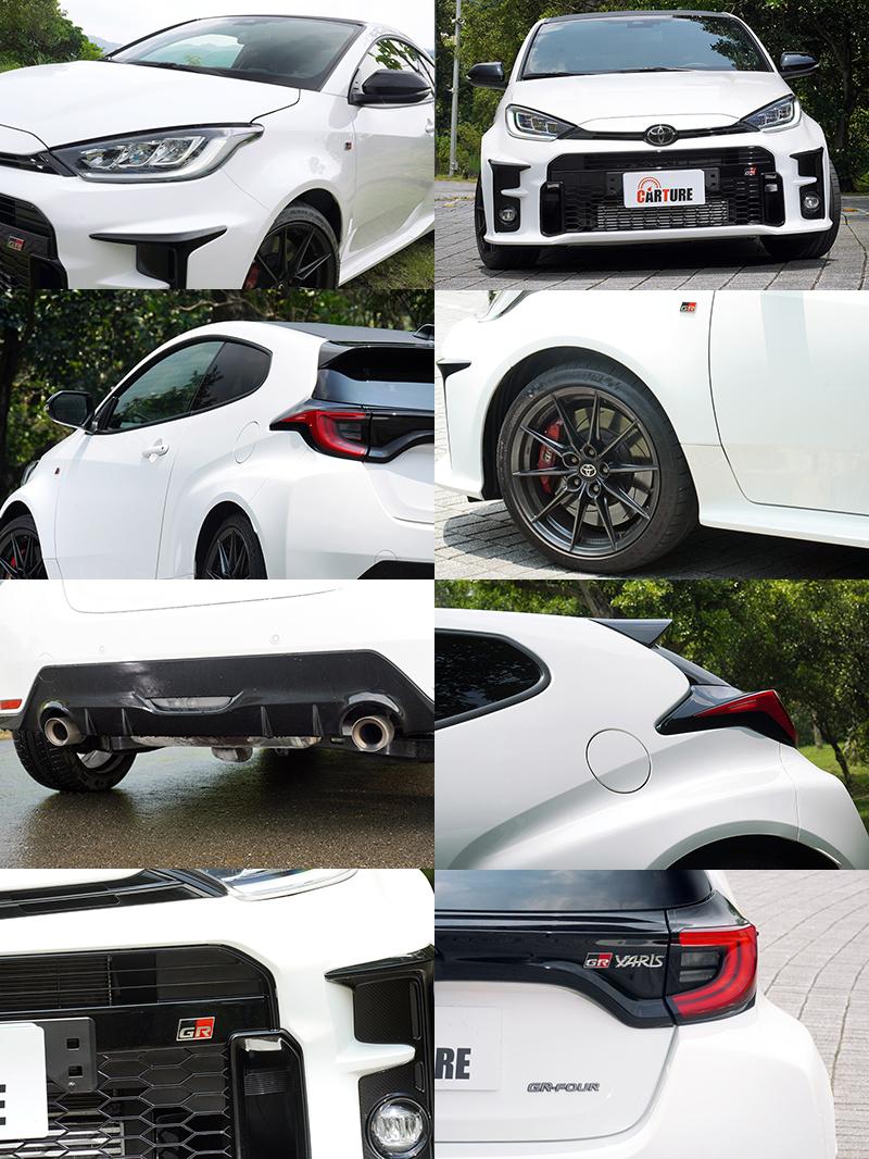 GR Yaris有著小巧圓潤又霸氣十足,車頭,兩側葉子版與車尾都有專屬的GR字樣銘牌。