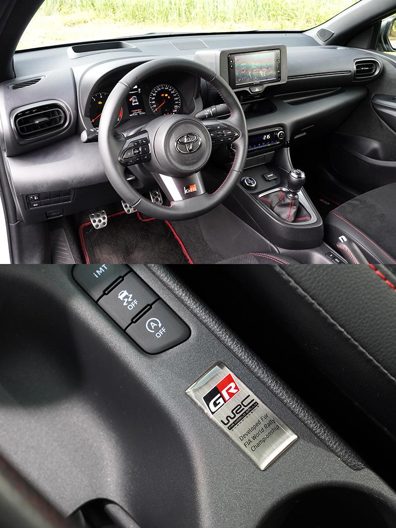 簡潔的內裝陳設,在鞍座上的WRC血統銘牌展現不凡身分。