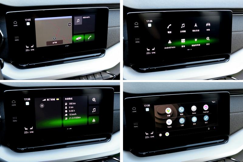 CNS 3.5代10吋全觸控中控螢幕提供豐富資訊,與支援無線Apple CarPlay/Android Auto。