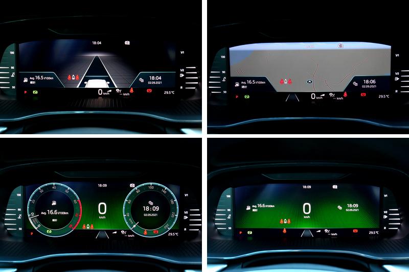 10.25吋數位儀表具有四種顯示介面。