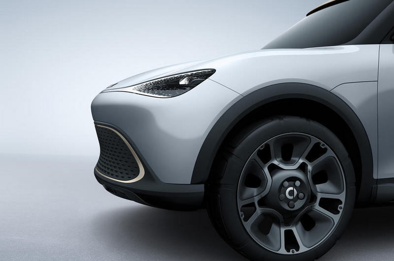 Smart Concept #1採用曲面設計,車身看不到一處折線。