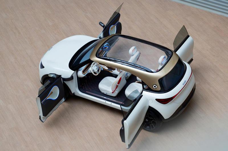 玻璃車頂、對開車門、2,750mm軸距讓Concept #1乘坐與進出都舒服。