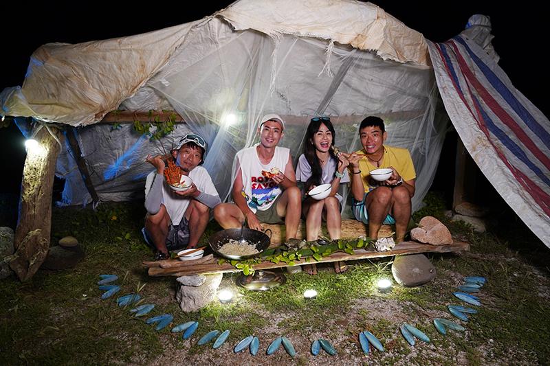 【車勢星聞】《上山下海過一夜》赴澎湖無人島體驗沒水、沒電原始生活。(圖:三立提供)