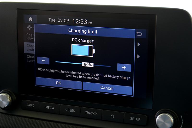 可手動設定AC或DC充電的最高電量