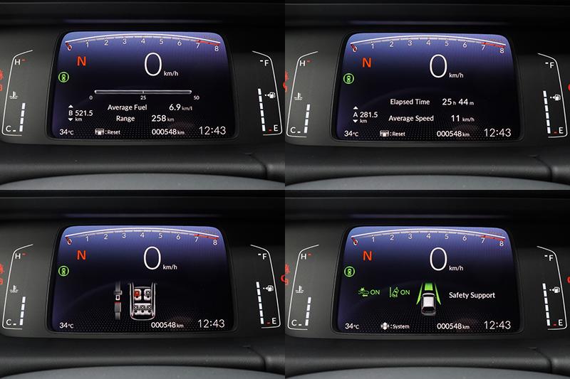 高亮度的液晶螢幕可切換多種顯示資訊。