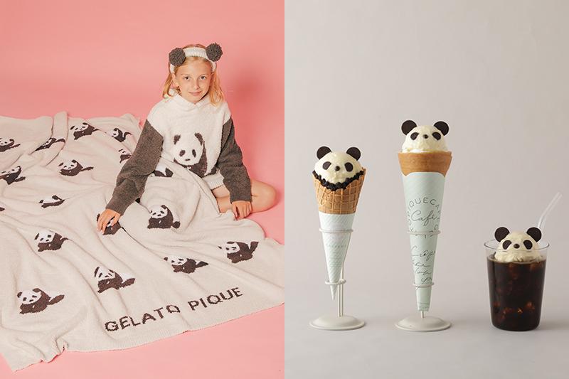 「gelato pique x gelato pique caf'e 」從服裝到餐點一同化身熊貓療癒身心。(圖:品牌提供)