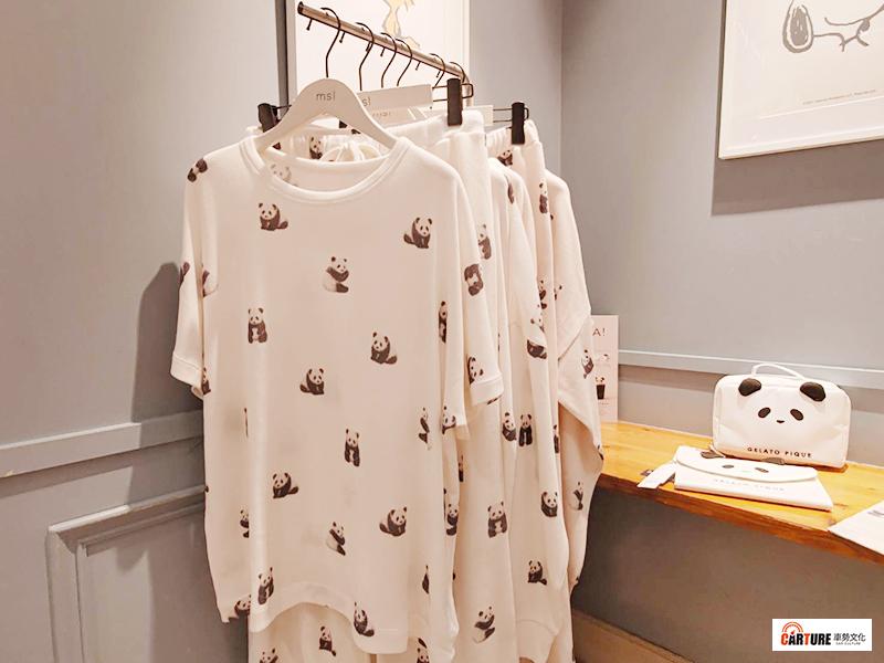gelato pique以「天天與熊貓度過幸福時光」為主題,推出多款包含大人孩童的超萌熊貓服飾。