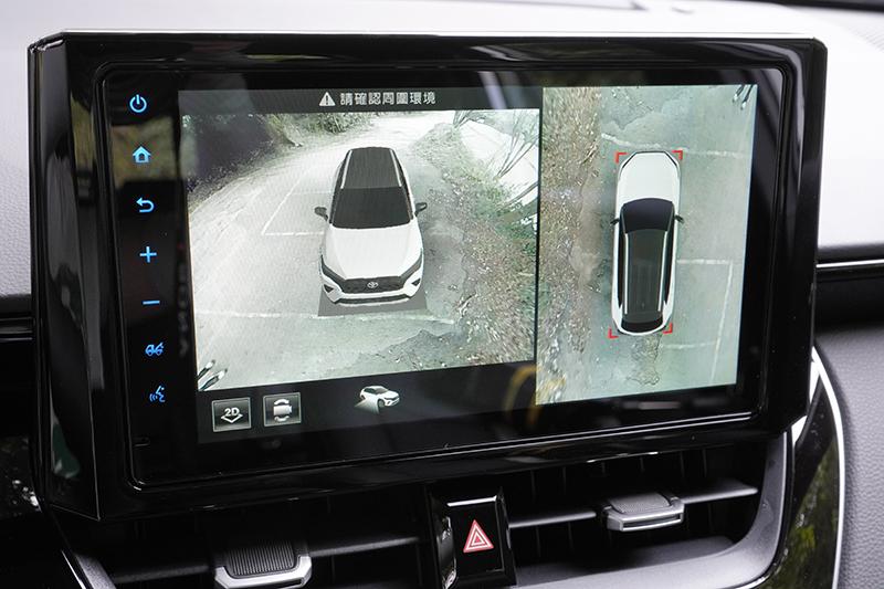 中央觸控螢幕尺寸放大至9吋,並將PVM環景影像系統列為全車系的標準配備