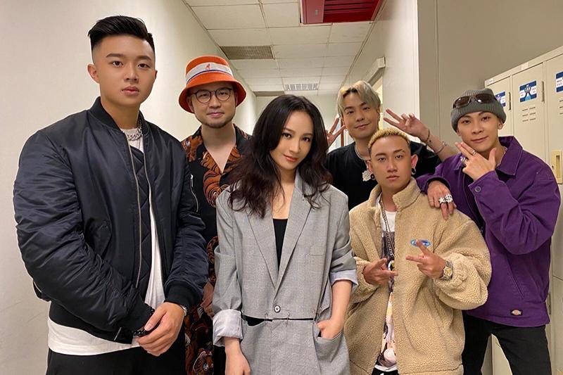 【車勢星聞】大嘻哈時代的選手們為Faye詹雯婷慶生。(圖:亞神音樂提供)