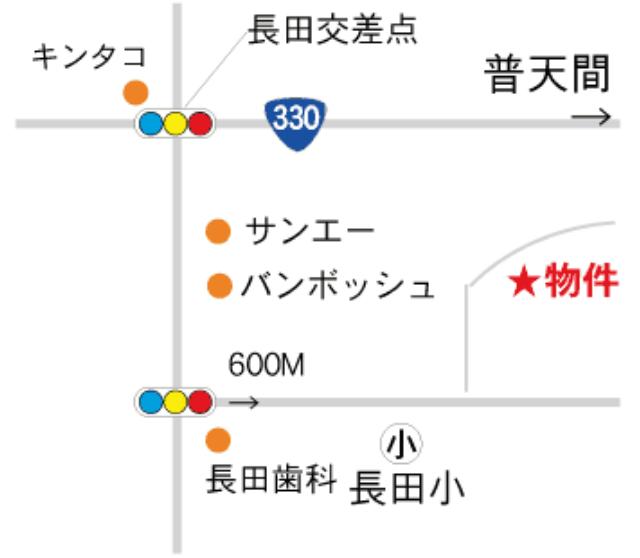長田ヒルズ 地図