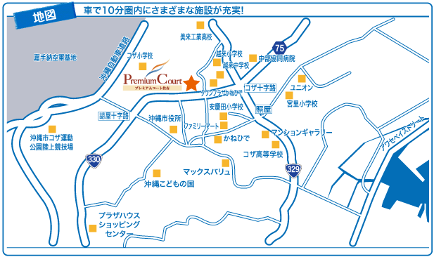 プレミアムコート住吉 地図