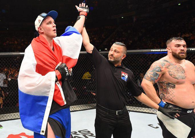 UFC 204:ステファン・ストルーフェ vs. ダニエル・オミランチェク【イギリス・マンチェスター/2016年10月9日(Photo by Josh Hedges/Zuffa LLC/Zuffa LLC via Getty Images)】
