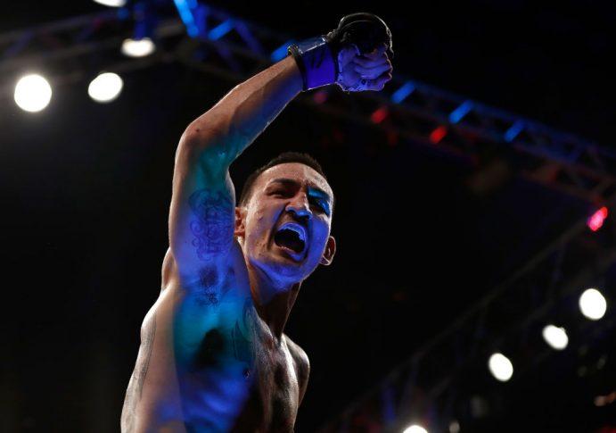 UFC 212:ジョゼ・アルドを下してフェザー級統一王座を手に入れたマックス・ホロウェイ【ブラジル・リオデジャネイロ/2017年6月3日(Photo by Buda Mendes/Zuffa LLC/Zuffa LLC via Getty Images)】