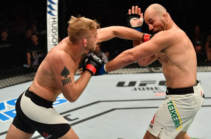UFCファイトナイト・ストックホルム:アレクサンダー・グスタフソン vs. グローバー・テイシェイラ【スウェーデン・ストックホルム/2017年5月28日(Photo by Jeff Bottari/Zuffa LLC/Zuffa LLC via Getty Images)】